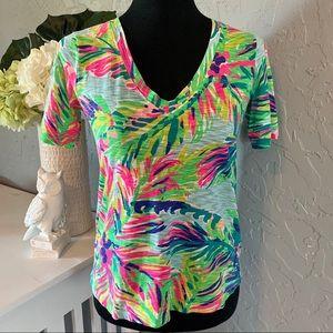 💕LILLY PULITZER💕 Tropical Palm Tree Print Shirt